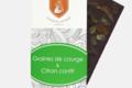 Tablette parsemée graine de courge et citron confit