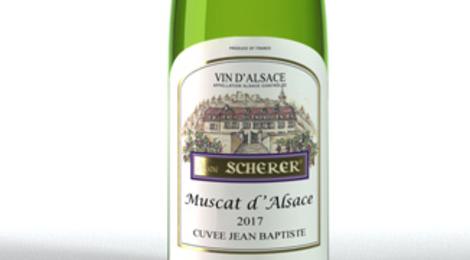 Vignoble André Scherer. Muscat. Cuvée Jean-baptiste