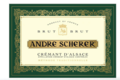 Vignoble André Scherer. Crémant d'alsace brut