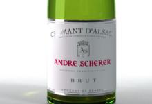 Vignoble André Scherer. Crémant d'alsace brut tête de cuvée