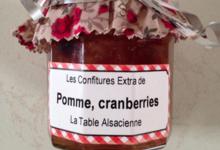 Biscuiterie La Table Alsacienne. Confiture pomme cranberries
