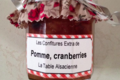 Biscuiterie La Table Alsacienne. Confiture pomme cranberries