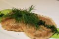 Boucherie du Praz. Raviole de cèpe sauce clorophylle