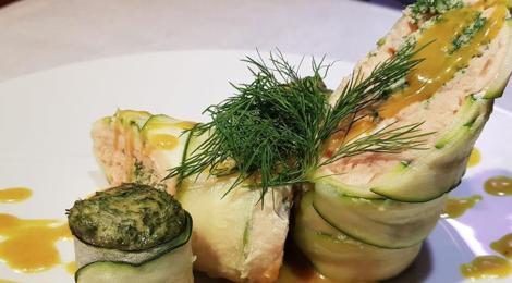 Boucherie du Praz. Ballotine de saumon en habit de courgette