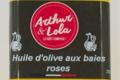 Arthur et Lola. Huile d'olive aux baies roses