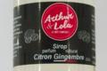 Arthur et Lola. Sirop parfum naturel Citron gingembre