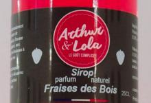 Arthur et Lola. Sirop parfum naturel Fraise des bois