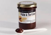 Pâte à tartiner au chocolat noir, noisettes et huile d'olive 10.9%