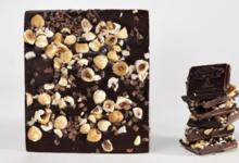 L'Espérentine. Tablette de chocolat noir. Grué de cacao et noisettes