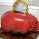 Cochon tirelire en chocolat