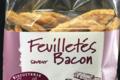 Biscuiterie Cannelle et Bergamote. Feuilleté apéritif bacon