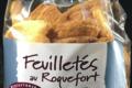 Biscuiterie Cannelle et Bergamote. Feuilleté apéritif roquefort