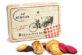 Daniel Mercier. Assortiment de biscuits sucrés en boîte métal