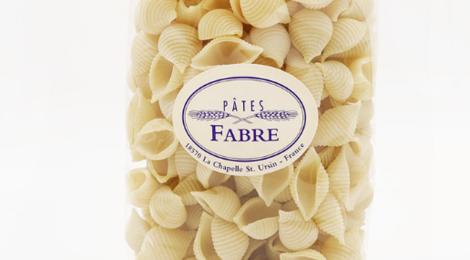 Pâtes Fabre. Coquillage nature