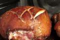 jambons entiers rôtis de porc Mangalitza