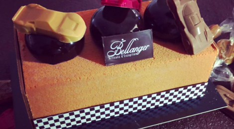 Chocolaterie Bellanger. La bûche bolides