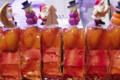 Mille feuille de foie gras aux fruits exotiques