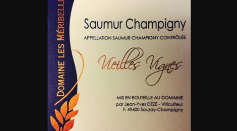 """Domaine des Méribelles. Saumur champigny cuvée """"vieilles vignes"""""""
