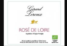 Domaine Gérard Leroux. Rosé de Loire