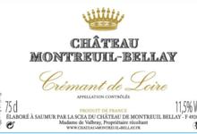 Chateau De Montreuil-Bellay. Crémant de Loire Blanc