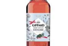 Giffard. Sirop saveur rhubarbe