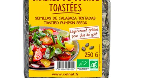 Celnat. Graines de courge toastées