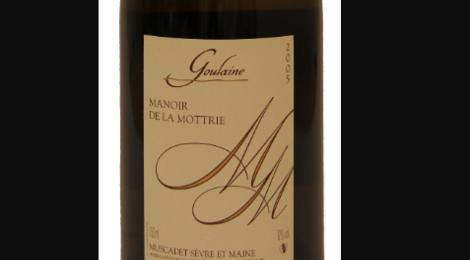 """Manoir de la Mottrie. Muscadet Sèvre et Maine  """"Goulaine"""""""