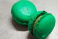 Les douceurs de l'hippodrome. Macaron pistache chocolat blanc