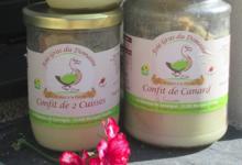 Foie gras du domaine. Confit de cuisse de canard