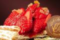 Patisserie Joel Boulay. Feuilleté aux fraises