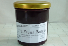 Les Vergers Du Buisson. Confiture 4 fruits rouges sans pépins