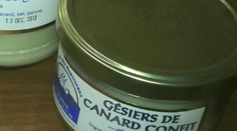 Ferme des Morinières. Gésier de canard confit