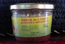 Ferme de la Malvoyère. Terrine de Magret aux raisins et Monbazillac