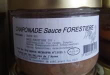 Les délices de l'Arnes. Chaponade sauce forestière