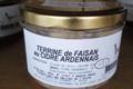 Les délices de l'Arnes. Terrine de faisan au cidre Ardennais