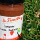 La fermette. Compote fraise rhubarbe
