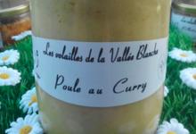 Elevage Avicole de la Vallée Blanche. Poule au curry