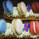Sacrées Pâtisseries de Zoé Petit. Eclairs tricolores
