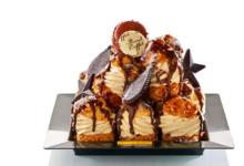 Maison Caffet. Profiteroles glacées vanille chocolat