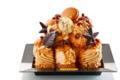 Maison Caffet. Profiteroles glacées vanille caramel