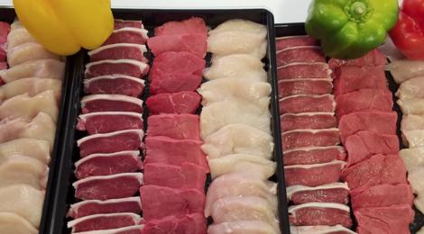 La boucherie du château. viande pour pierrade