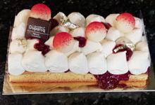 Pâtisserie Duparcq. Délice blanc Griotte