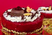 Le nid de Pâques chocolat griotte sur son craquant praliné