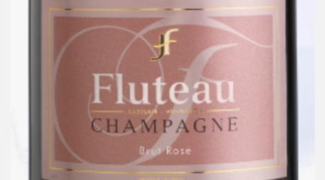 Champagne Fluteau. Cuvée rubis rosé