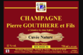 Champagne Pierre Gouthière & fils. Cuvée nature