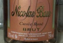 Champagne Nicolas Bass. Cuvée rosé brut