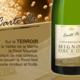 Champagne Mignon Père et Fils. Carte d'or