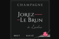 Champagne Jorez Le Brun. Champagne rosé