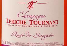 Champagne Leriche Tournant. Rosé de saignée