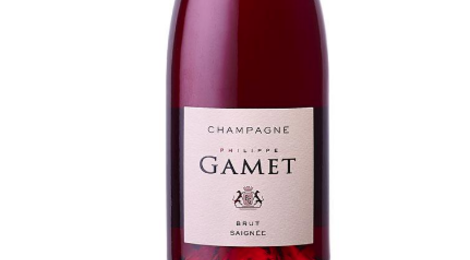 Champagne Gamet. Rosé de saignée